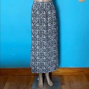 TWO rayon maxi skirts with side slits, size M!
